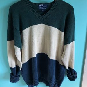 VTG 80s Polo Ralph Lauren Color Block Sweater